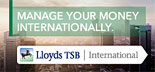Manage your money internationally with Lloyds TSB